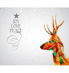 Merry Christmas reindeer shape vector image vector image