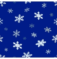 The falling snowflakes Seamless background vector image