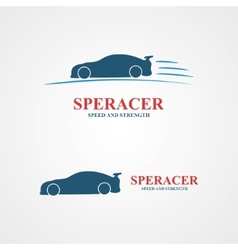 Abstract set of sport car design vector image