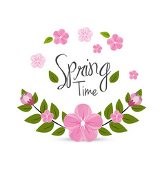 beautiful spring flowers icon vector image