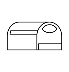 Booth for dog icon outline style vector image