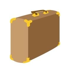 Brown suitcase cartoon icon vector image vector image