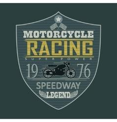 Motorcycle Racing emblem t-shirt vector image vector image