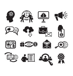seo icons set vector image