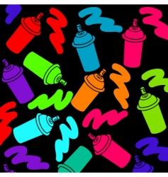 spray cans vector image