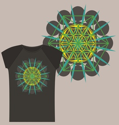 Star Tetrahedron design for a t shirt vector image