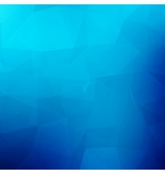 Abstract blue geometric background with triangles vector image