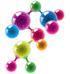 abstract molecule or microbe background vector image