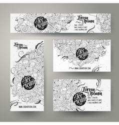 Corporate Identity templates set doodles ice cream vector image vector image