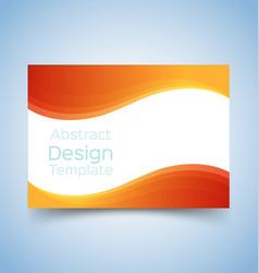 flyer template wave design 5 vector image