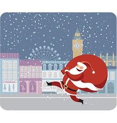 Santa Claus in London vector image vector image