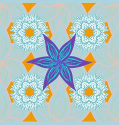 watercolor set of vintage floral tropical vector image