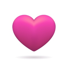 3D icon of pink heart vector image