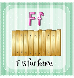 A letter F for fence vector