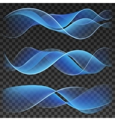 Abstract blue wavy background elements vector