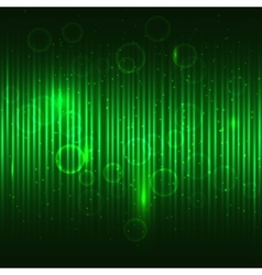 Abstract glowing green background vector