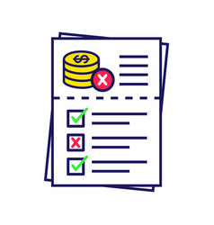 Audit risk color icon vector
