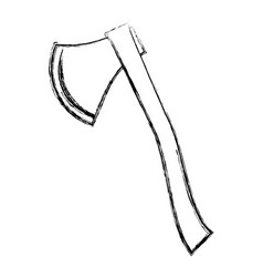 axe tool cut vector image