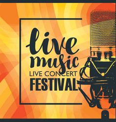 Banner for concert of live music with microphone vector