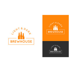 Beer logo set design background vector