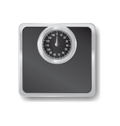 black weighing machine scale icon health and vector image