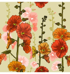 Bright seamless floral background vector