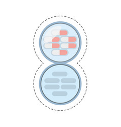 cartoon medication capsule pills icon vector image