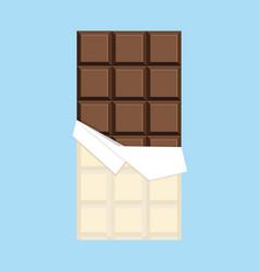 chocolate bar minimal flat design vector image