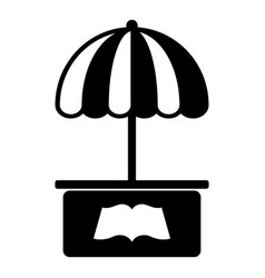 city stall icon simple black style vector image