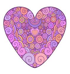 Colorful ornamental heart for vector