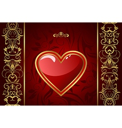 creative valentine greeting card vector image