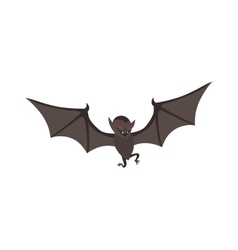 Cute Cartoon Halloween bat vector image