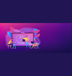 digital classroom header banner vector image