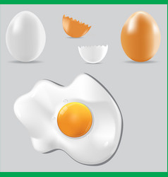 Egg healthy food set vector