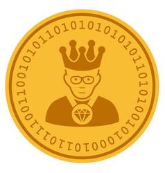 Emperor digital coin vector