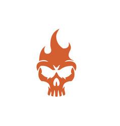 fire skull logo vector image