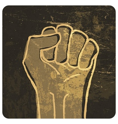 fist grunge icon vector image