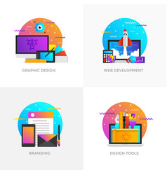 flat designed concepts - graphic design web vector image