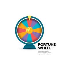 Fortune wheel banner gambling website poster vector