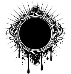 Frame grunge vector