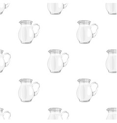 Glass jug of milk icon in cartoon style isolated vector