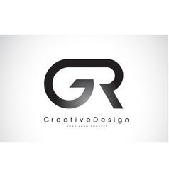 Gr g r letter logo design creative icon modern vector
