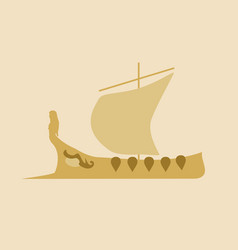greek ancient ship vector image