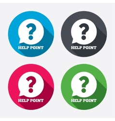Help point sign icon Question symbol vector image