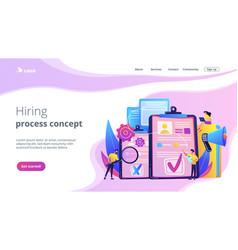 Hiring employee concept landing page vector
