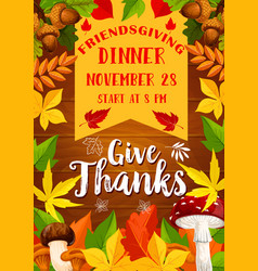 Holiday potluck dinner poster vector