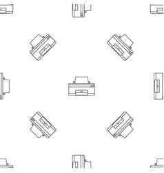 home printer pattern seamless vector image