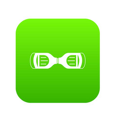 Hoverboard gyro pod top view icon digital green vector