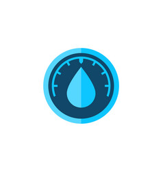 humidity icon water level vector image