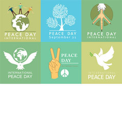 International Day of Peace symbols vector image